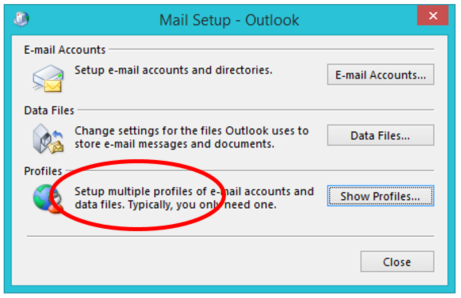 Mail Profile Options in Outlook