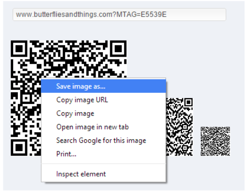 Generate QR Code with URLs